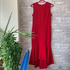 🌱Fresh listing! Calvin Klein red mermaid dress
